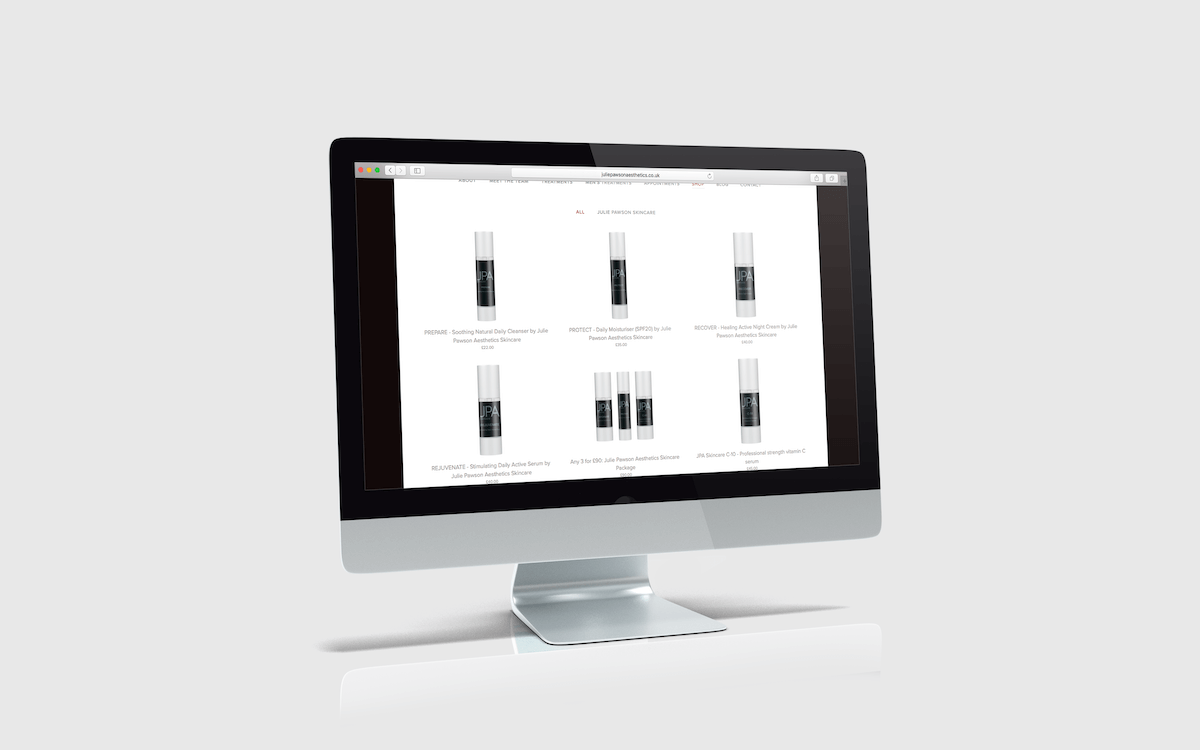 q new website for my aesthetics clinic